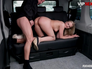 VipSexVault - Katie Sky - Kinky Blonde Rides Big Cock On Hot Taxi Ride