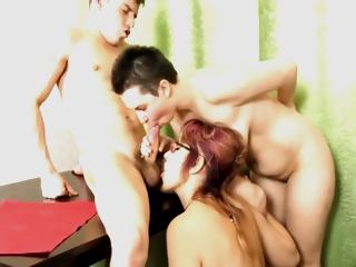 Mature Pervert Mum Joins Young Couple