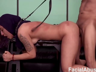 His Submissive Slave Fucks Hard In A Deep Mouth