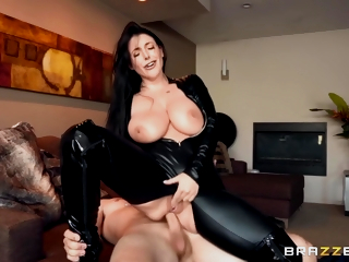 Busty Porn Personage Gets Assfucked In Latex Bodysuit - Angela White