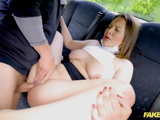 Mia Rose In 18 Year Old Teenager With Heavy Tits Gets Driver To Jizz 4 Times In A Row