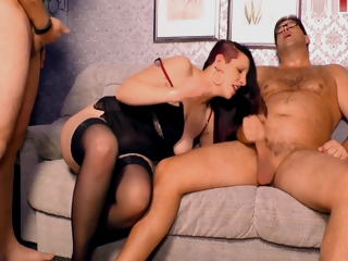 German Mmf Trilogy Date With regard to Housewife In Stockings