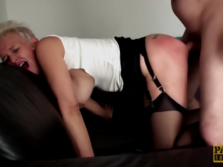 Scarla Swallows - Roughly Fucked Mature Slut Swallows Colossal Load Be fitting of Cum