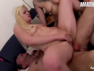 Hot Troika With Abnormal German Milfs And Their Neighbor