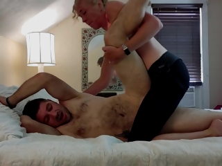 Woke Husband Up To Sensual Pegging W/ Strap On & Double Unabated Dildo Pussy To Ass! Fervent Making love