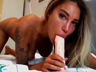 Dildo Masturbation - Monica Fox Plays With Her Pussy